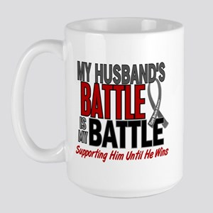 My Battle Too Brain Cancer Large Mug