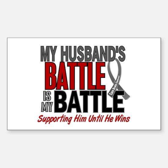 My Battle Too Brain Cancer Sticker (Rectangle)
