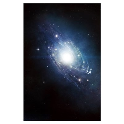 Artist's concept of a recently discovered galaxy Poster