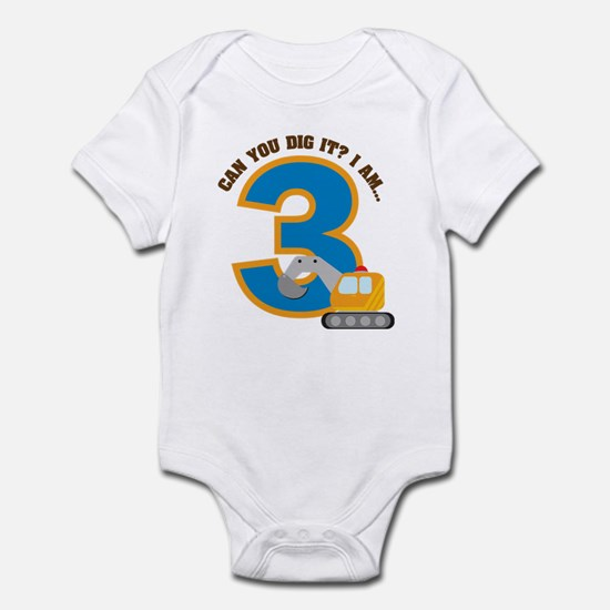 Construction 3rd Birthday Infant Bodysuit