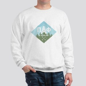 Pi Alpha Phi Mountains Diamond Blue Sweatshirt