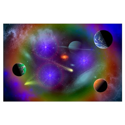 Conceptual image of a scene in outer space Poster
