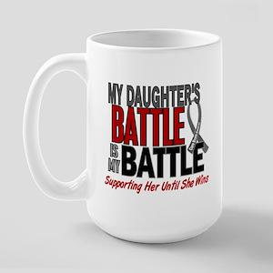 My Battle Too Brain Cancer Large Mug