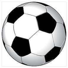 Soccer Ball Wall Art Poster