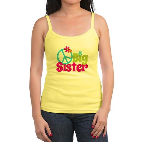 Peace Sign Big Sister Jr. Spaghetti Tank