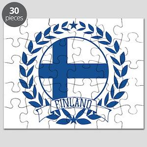 Finland Wreath Puzzle