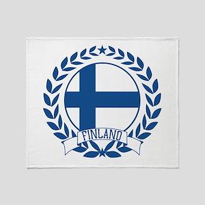 Finland Wreath Throw Blanket