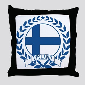 Finland Wreath Throw Pillow