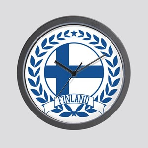 Finland Wreath Wall Clock