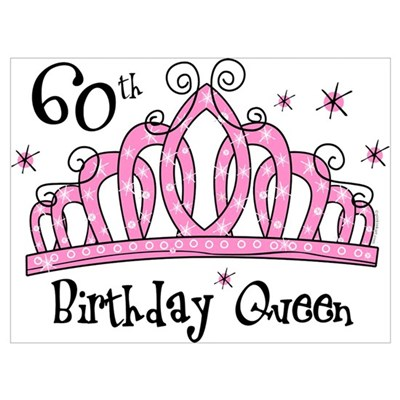 Tiara 60th Birthday Queen Wall Art Decal