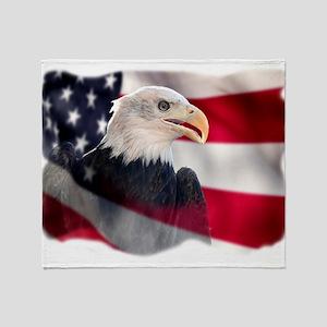 US Symbol Throw Blanket