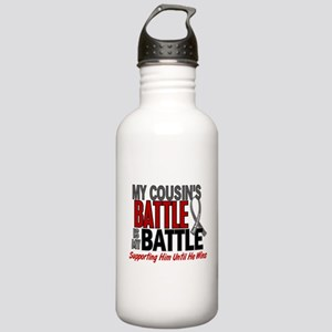My Battle Too Brain Cancer Stainless Water Bottle