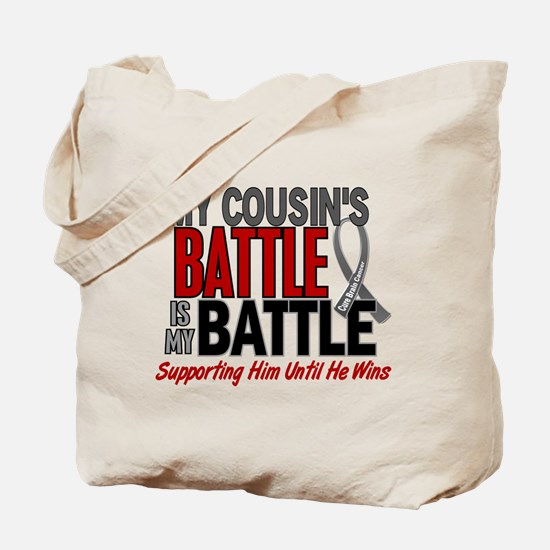 My Battle Too Brain Cancer Tote Bag
