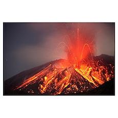 Explosive Vulcanian eruption of lava on Sakurajima Poster
