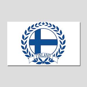 Finland Wreath Car Magnet 20 x 12