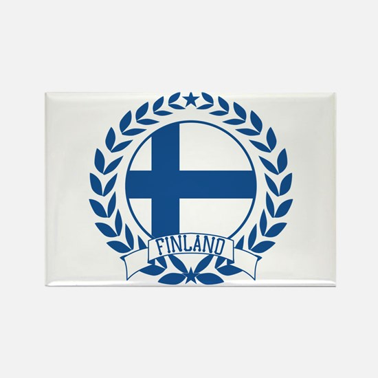 Finland Wreath Rectangle Magnet