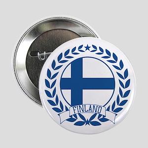 """Finland Wreath 2.25"""" Button"""