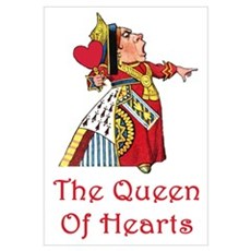The Queen of Hearts Wall Art Framed Print