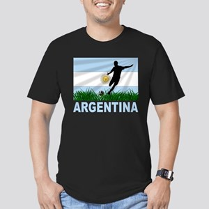 Argentina Soccer Men's Fitted T-Shirt (dark)