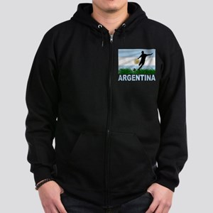Argentina Soccer Zip Hoodie (dark)