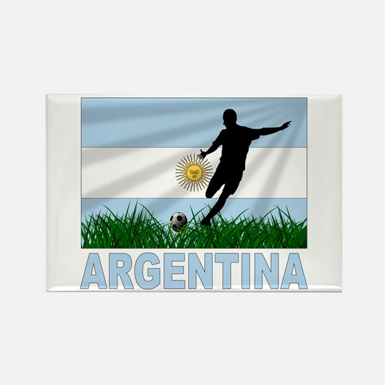 Argentina Soccer Rectangle Magnet (100 pack)