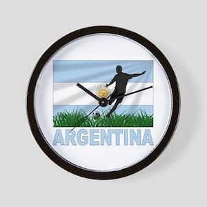Argentina Soccer Wall Clock