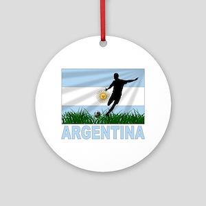 Argentina Soccer Ornament (Round)
