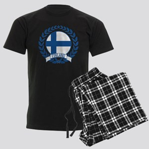 Finland Wreath Men's Dark Pajamas