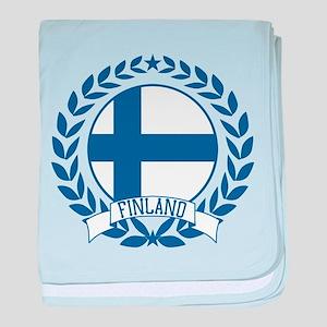Finland Wreath baby blanket