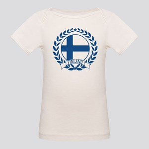 Finland Wreath Organic Baby T-Shirt