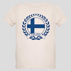 Finland Wreath Organic Kids T-Shirt