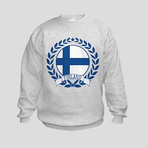 Finland Wreath Kids Sweatshirt