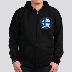 Finland Wreath Zip Hoodie (dark)