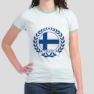 Finland Wreath Jr. Ringer T-Shirt