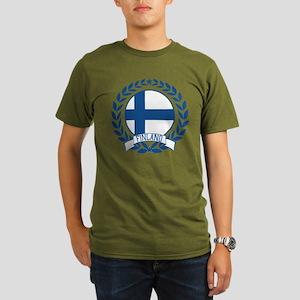 Finland Wreath Organic Men's T-Shirt (dark)
