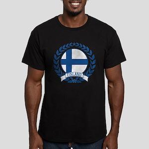 Finland Wreath Men's Fitted T-Shirt (dark)