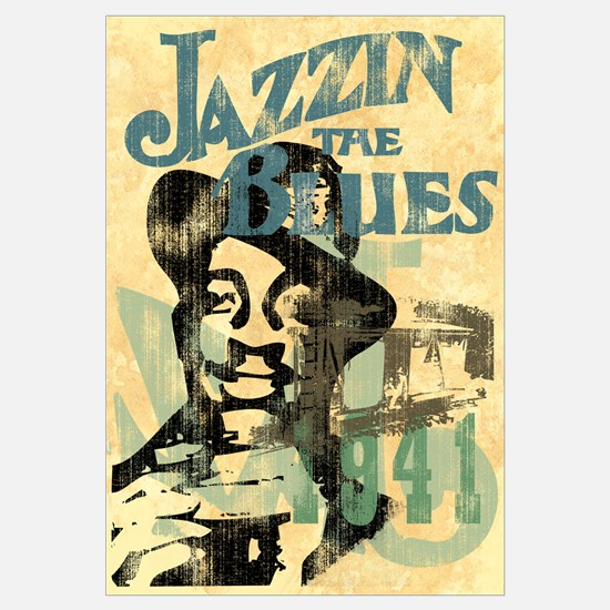 Jazzin The Blues Wall Art