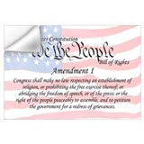 First amendment Wall Decals