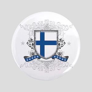 """Finland Shield 3.5"""" Button"""
