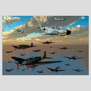 German Heinkel He 111 bombers gather over the Engl