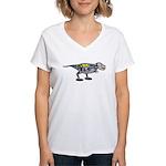 T-Rex Robot Women's V-Neck T-Shirt