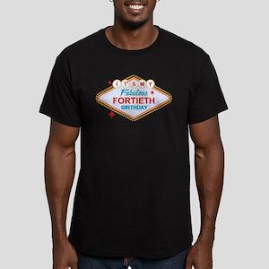 Las Vegas Birthday 40 Men's Fitted T-Shirt (dark)