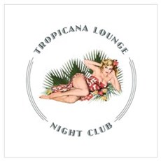Tropicana Lounge Girl 2 Wall Art Poster