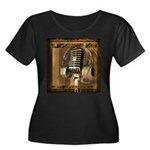 BMV Radio 1 Women's Plus Size Scoop Neck Dark T-Sh
