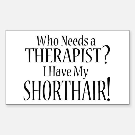 THERAPIST Shorthair Sticker (Rectangle)