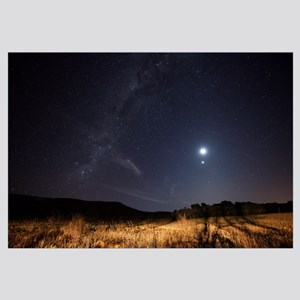 The Milky Way, the Moon, Venus and Spica after twi