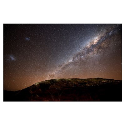 The Milky Way rising above the hills of Azul, Arge Poster