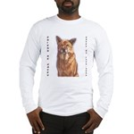 Pet Portrait Custom Art Long Sleeve T-Shirt