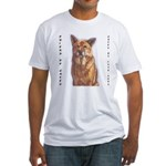 Pet Portrait Custom Art Fitted T-Shirt
