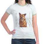 Pet Portrait Custom Art Jr. Ringer T-Shirt
